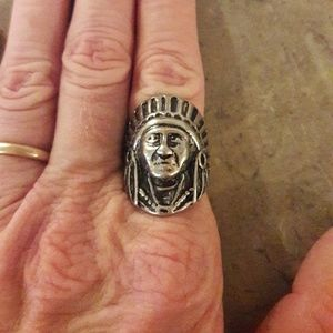 NEW SUNDANCE SUNSET STAINLESS STEEL INDIAN RING